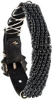 Emanuele Bicocchi embellished leather bracelet