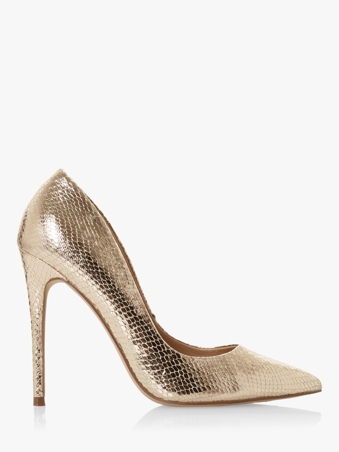 Rose Gold Court Shoes   Shop the world