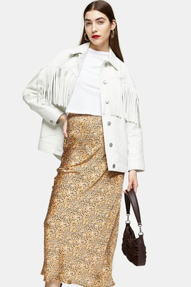 Topshop Animal Bias Maxi Skirt