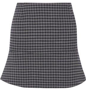 Sonia Rykiel Fluted Checked Stretch-crepe Mini Skirt