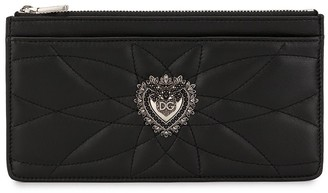 Dolce & Gabbana Embellished Heart Zip Wallet