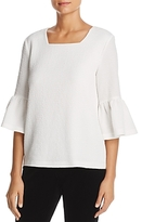 Calvin Klein Textured Bell Sleeve Top