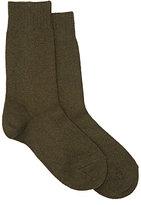 Barneys New York Women's Trouser Socks-DARK GREEN