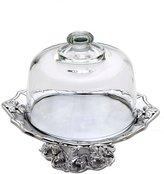 Arthur Court Fleur de Lis Footed Plate with Glass Dome