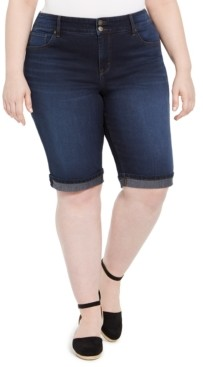 Style&Co. Style & Co Plus Size Denim Bermuda Shorts, Created for Macy's
