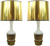 One Kings Lane Vintage,  Gold/black/brass/white, In Stock