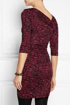 Diane von Furstenberg Bentley printed silk mini dress