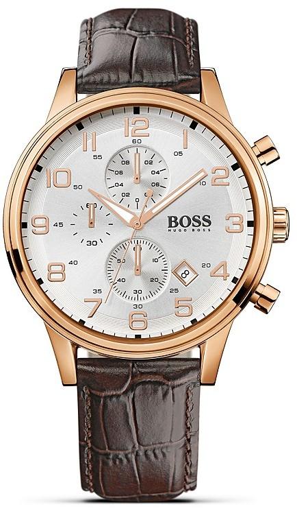 HUGO BOSS Quartz Aviator Chronograph Watch, 44mm