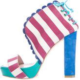 M Missoni Striped Platform Sandals