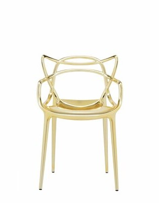 Kartell Masters Patio Chair (Set of 2 Color: Gold