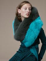 Diane von Furstenberg Bicolor Fox Fur Shawl