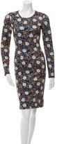 Cynthia Rowley Printed Neoprene Dress