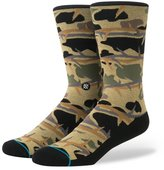 Stance Men's Thorn Camo Socks Brown