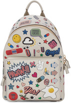 Anya Hindmarch Ivory Wink Stickers Backpack