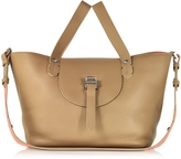 Meli-Melo Light Tan and Persimonio Leather Thela Medium Tote Bag