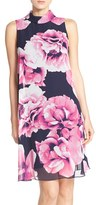 Eliza J Floral Print Chiffon Shift Dress