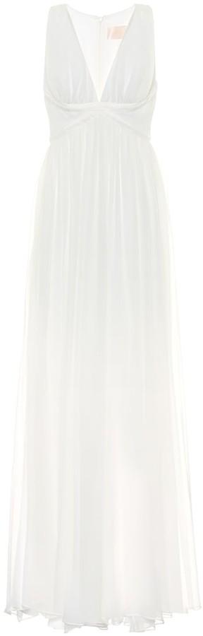 Max Mara Klausen silk-chiffon bridal gown