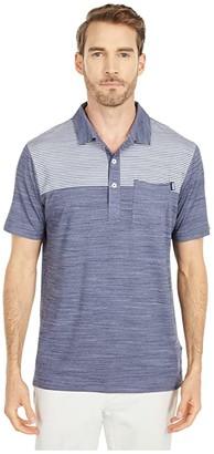Puma Golf Cloudspun Pocket Polo Black Heather) Men's Clothing