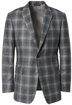 Banana Republic Standard Gray Plaid Italian Wool Flannel Suit Jacket