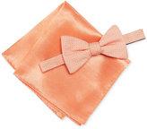 Alfani Men's Orange Bow Tie & Pocket Square Set, Only at Macy's
