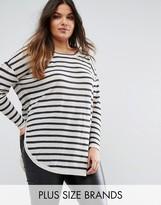Junarose Fine Gauge Striped Knit Sweater