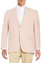 Lauren Ralph Lauren Striped Seersucker Two-Button Jacket
