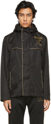 Moschino Black and Gold Double Question Mark Jacket
