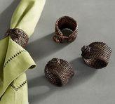 Pottery Barn Tava Napkin Ring, Set of 4