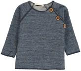Babe & Tess Buttoned Sweatshirt