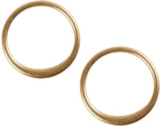 Lucky Brand Malibu Glamping Goldtone Hoop Earrings