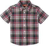 Joe Fresh Toddler Boys' Plaid Short Sleeve Shirt, JF Midnight Blue (Size 5)