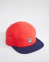 Fila Cap In Fleece With Box Logo & Contrast Visor
