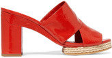 Tory Burch Varenna patent-leather mules