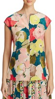 Lafayette 148 New York Joanie Floral Silk Blouse