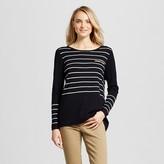 August Moon Women's Longsleeve Striped Pullover Sweater