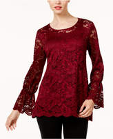 Alfani Ruffled Lace Top, Created for Macy's