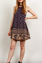 Tcec Navy Printed Dress