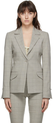 Charlotte Knowles Grey Check Stream Jacket