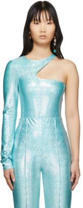 Saks Potts SSENSE Exclusive Blue Asymmetric One-Piece Swimsuit