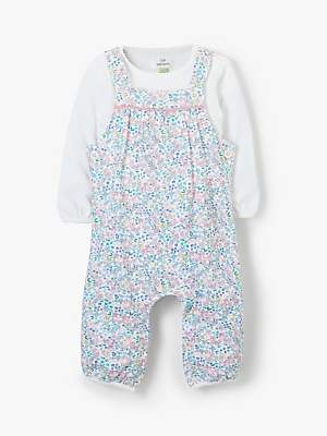 John Lewis & Partners Baby Ditsy Floral Print Dungaree Set, Multi