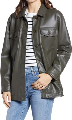Madewell Faux Leather Chore Jacket
