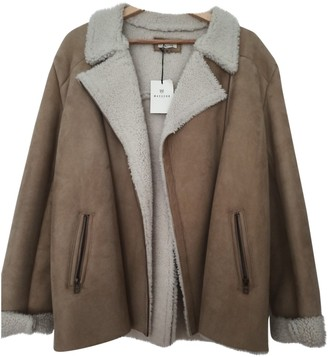 Masscob Beige Shearling Coat for Women