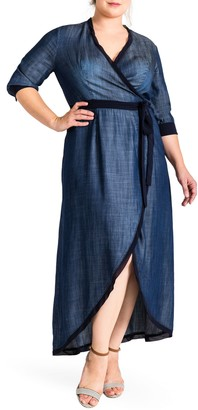 Standards & Practices Elle Wrap Maxi Dress