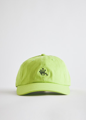 Stussy Bent Crown Fitted Low Cap in Lime, Size Small/Medium | 100% Cotton