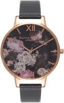 Olivia Burton Winter Garden Black & Rose Gold Watch