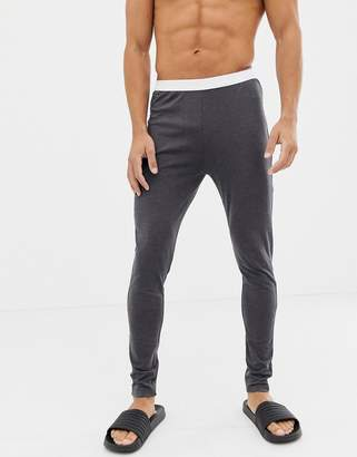 Asos Design DESIGN meggings in charcoal in organic cotton-Gray