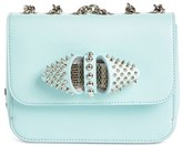 Christian Louboutin 'Baby Sweet Charity' Spiked Calfskin Shoulder/crossbody Bag - Blue