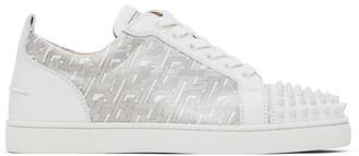 Christian Louboutin White Louis Junior Spikes Orlato Sneakers
