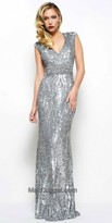 Mac Duggal Fully Sequined Sleeveless Evening Dress