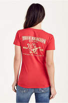 True Religion Gold Metallic Womens Tee